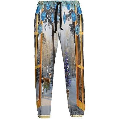 Emild Pantalones de chándal para Hombre Adornos navideños de ...