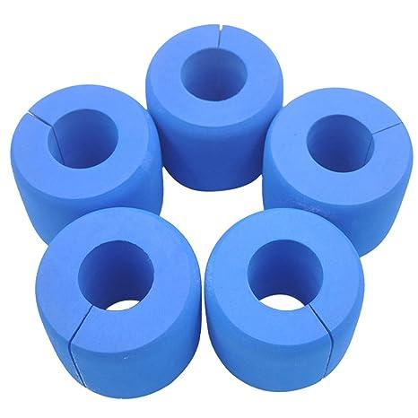 Dytiying - Protector de puerta de goma EVA para interior y bebé, color azul