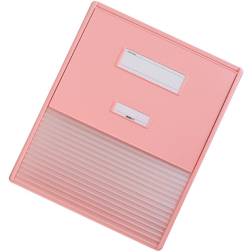 リヒトラブ カラーカードインデックス  HC114C-4 A3(A4縦2面)  ピンク B005GDWIYM A3(A4縦2面 16ポケット)|ピンク ピンク A3(A4縦2面 16ポケット)