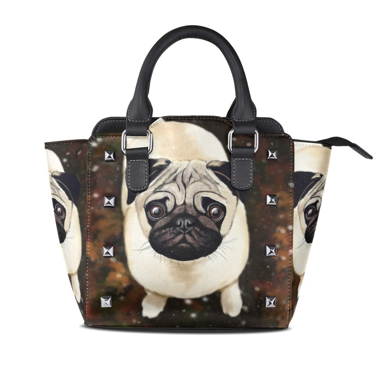 Design3 Handbag Bees And Flowers Genuine Leather Tote Rivet Bag Shoulder Strap Top Handle Women