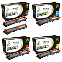 Catch Supplies Replacement TN221 Toner Cartridge 5 Pack for the Brother TN-221 series|2 TN221BK, 1 TN221C, 1 TN221M, 1 TN221Y| compatible with HL-3140,3150,3152,3170, MFC-9130,9140,9330,9340, DCP-9020