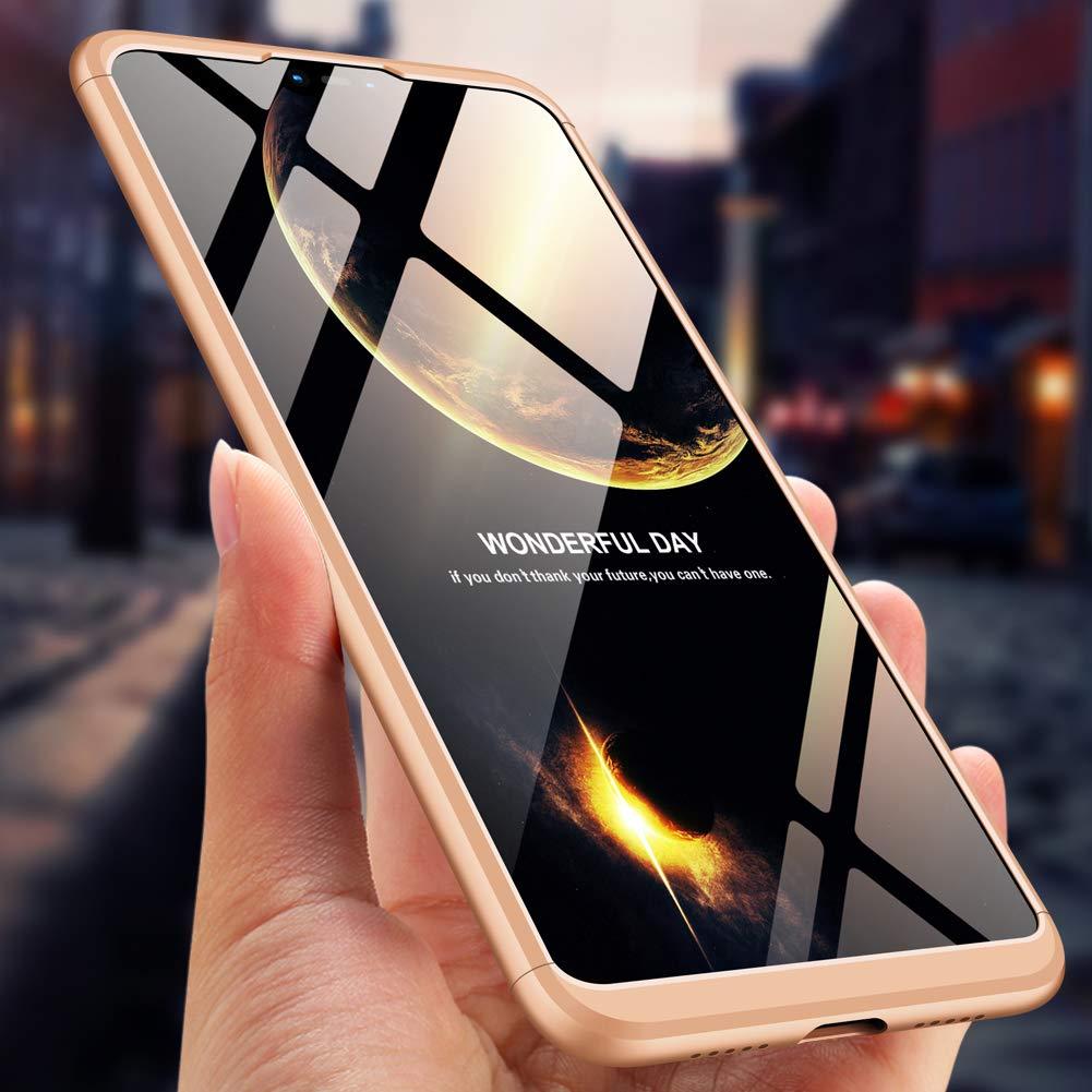 con Xiaomi A3//CC9E Cristal Templado sigua Compatible Funda Xiaomi A3//CC9E 1 Piezas ,360 /°de Protection Carcasas Xiaomi A3//CC9E Impermeable.Negro