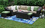 AE Outdoor Williams 8 Piece Sectional with Sunbrella Fabric For Sale