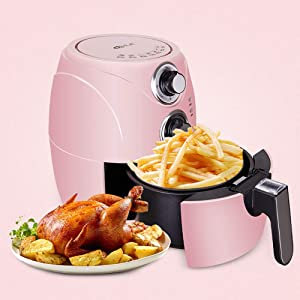 BTSSA Air Fryer, Electric Hot Air Fryers Oven Oilless Cooker 7 Cooking Preset, Preheat&Shake Remind,Nonstick Basket,Timer Up to 30-Minutes and Temperature Up to 200 Degrees,1200W