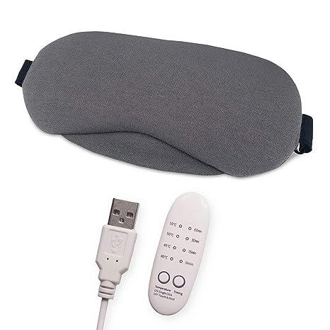 AhaSky Antifaz para Dormir, Vapor Caliente Mascara para Dormir con Tapón de Oído y Ajustable
