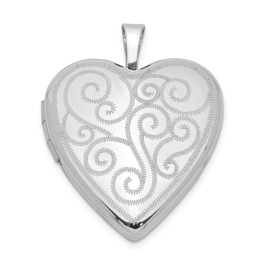 ICE CARATS 925 Sterling Silver 20mm Swirl Design Heart Photo Pendant Charm Locket Chain Necklace That Holds Pictures Fine Jewelry Ideal Gifts For Women Gift Set From Heart
