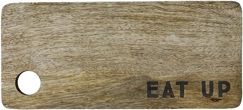 Creative Co Op 13 L X 5 3 4 W Mango Wood Cutting Board Eat Up Kitchen Dining