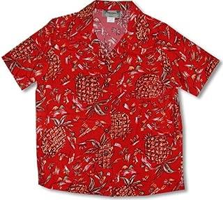 product image for Pineapples (Original) Kamehameha Women's Hawaiian Aloha Shirt in Red - S