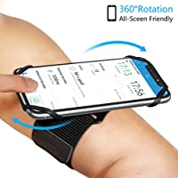 [2020] Sweat-Resistance Running Armband & Wristband for iPhone 11 Pro Max X XR XS 8 7 6s Plus, S10 S9 S8 Plus, Note 10/9/8,Google Pixel,360°Rotatable Phone Armband for Hiking Biking Walking Running