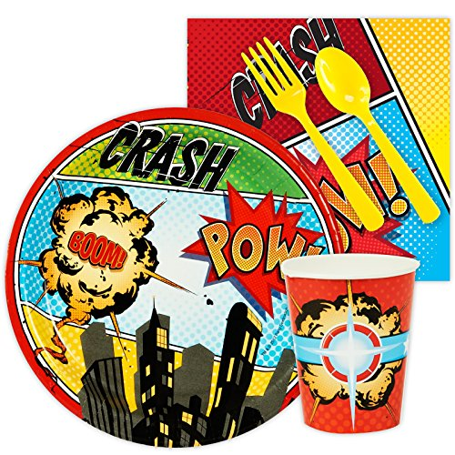BirthdayExpress Superhero Comics Party Supplies - Snack Party Pack -