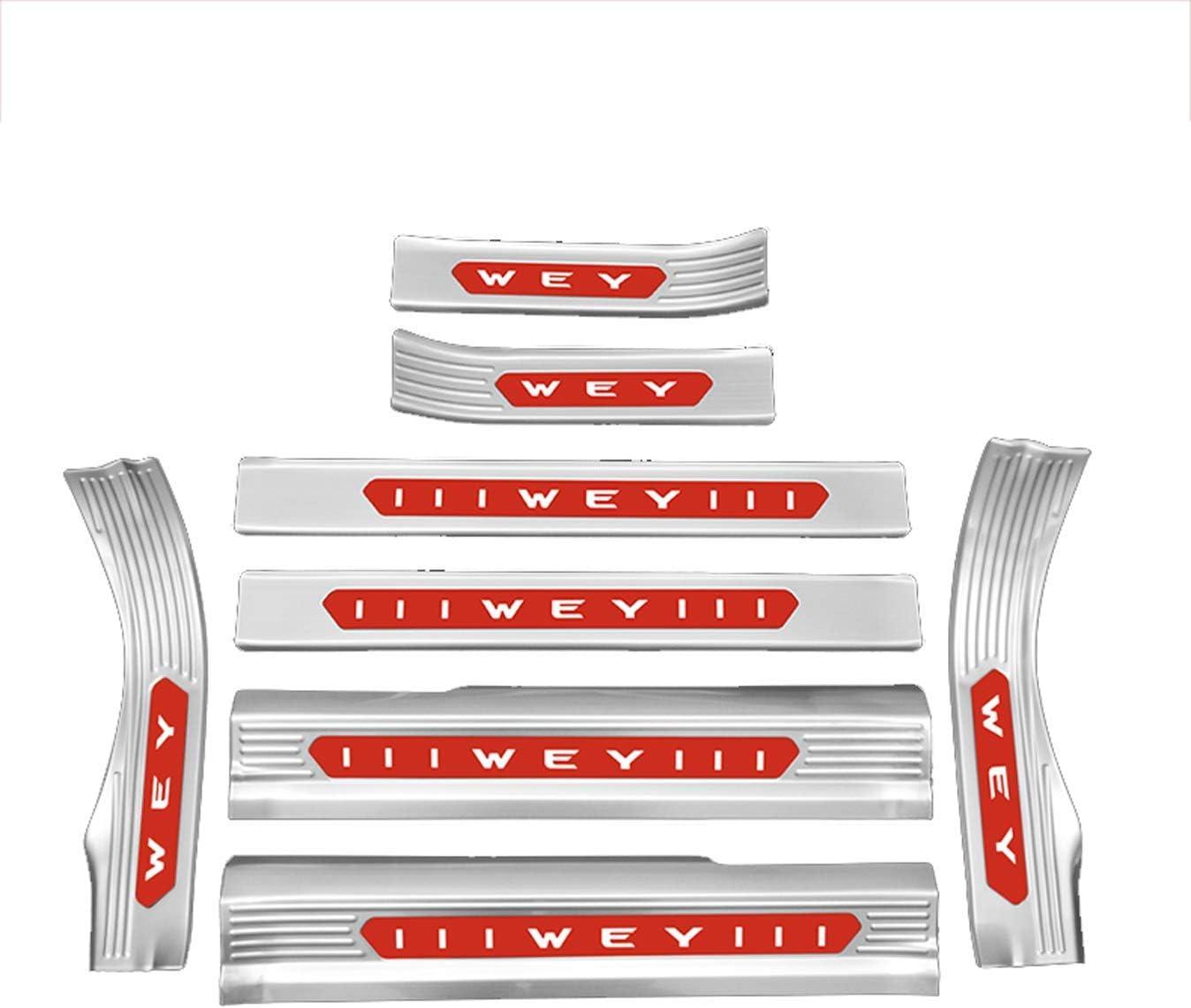 wuwenjun Bandes de Garniture de Couverture de Barre de seuil de p/édale de Bienvenue de Porte de Style de Voiture pour Alfa Romeo Mito Acier Inoxydable