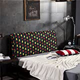 Vercart Sofa Bed Large Filled Triangular Wedge Cushion Bed Backrest Positioning Support Pillow Reading Pillow Office Lumbar Pad with Removable Cover Mixed Color 79x4x24 Inches