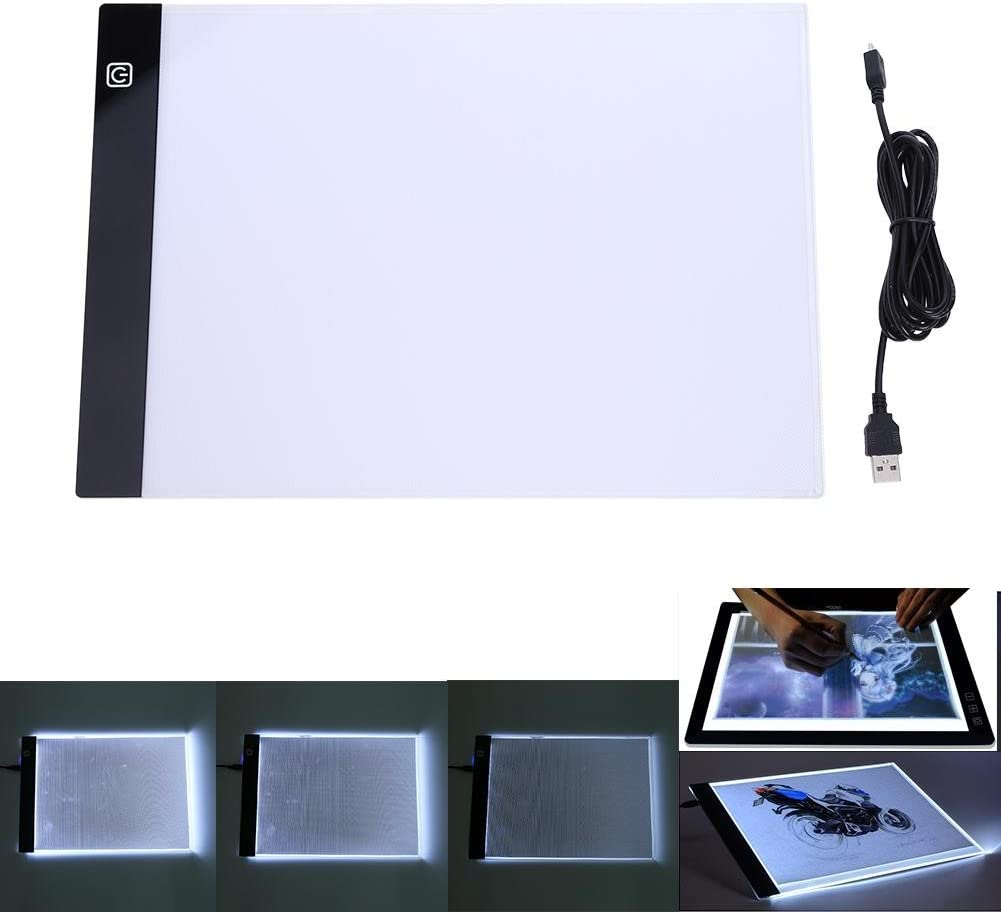 JUNERAIN A4 K2 LED Artist Thin Type Stencil Drawing Board Light Tracing Table Pad