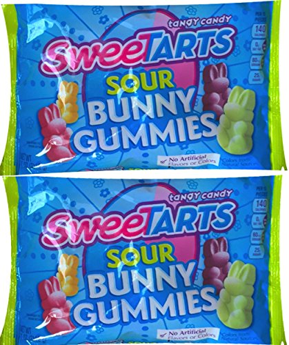 Sweetarts Easter Candy Sour Bunny Gummies (Pack of 2 ) -