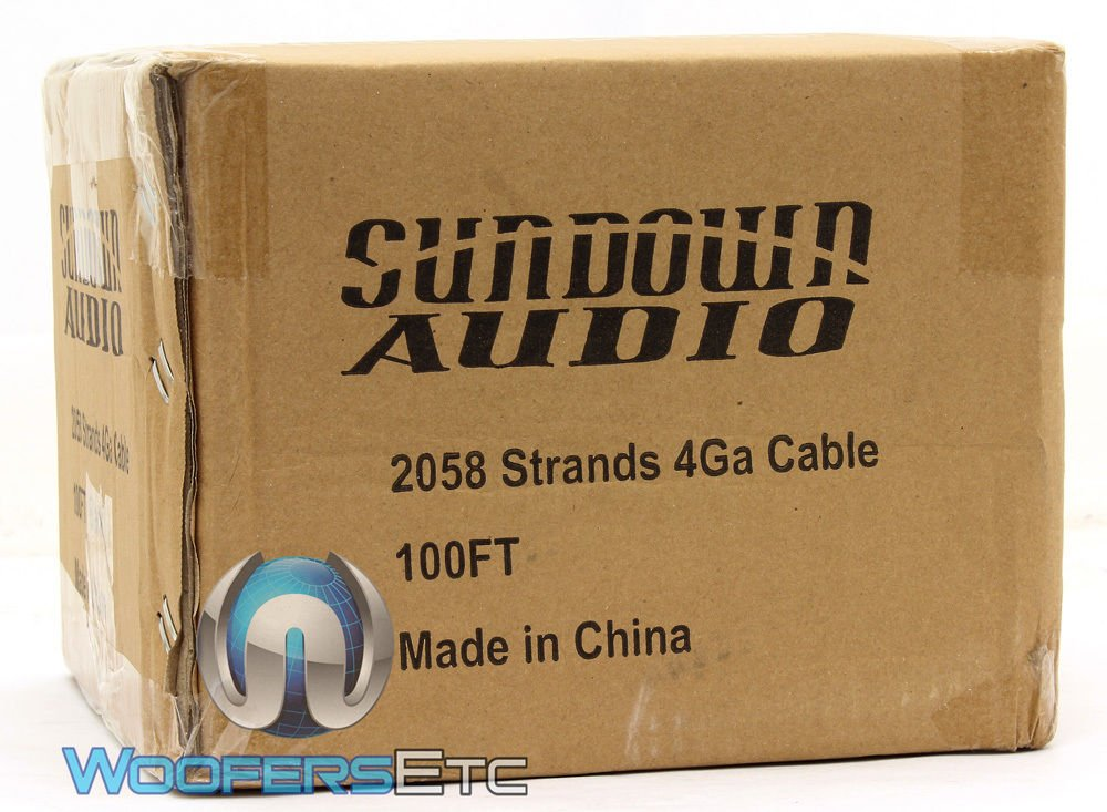 2058 Strands Black - Sundown Audio 100 Ft 4 AWG Power Cable by Sundown Audio