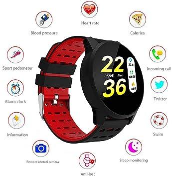 LayOPO Rastreador de Actividad Cardíaca, Bluetooth Relojes Inteligentes Desbloqueados a Prueba de Agua para Hombres, Mujeres, Podómetro, Reloj de Pulsera ...