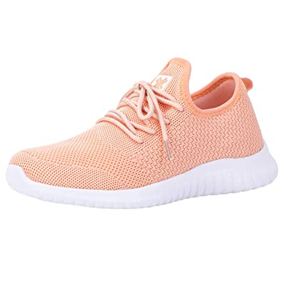 a24a1bdf8 Lyncxx Women's Athletic Walking Shoes Casual Knit Comfortable Fashion  Sneakers Cold Pink 5.5 (B)