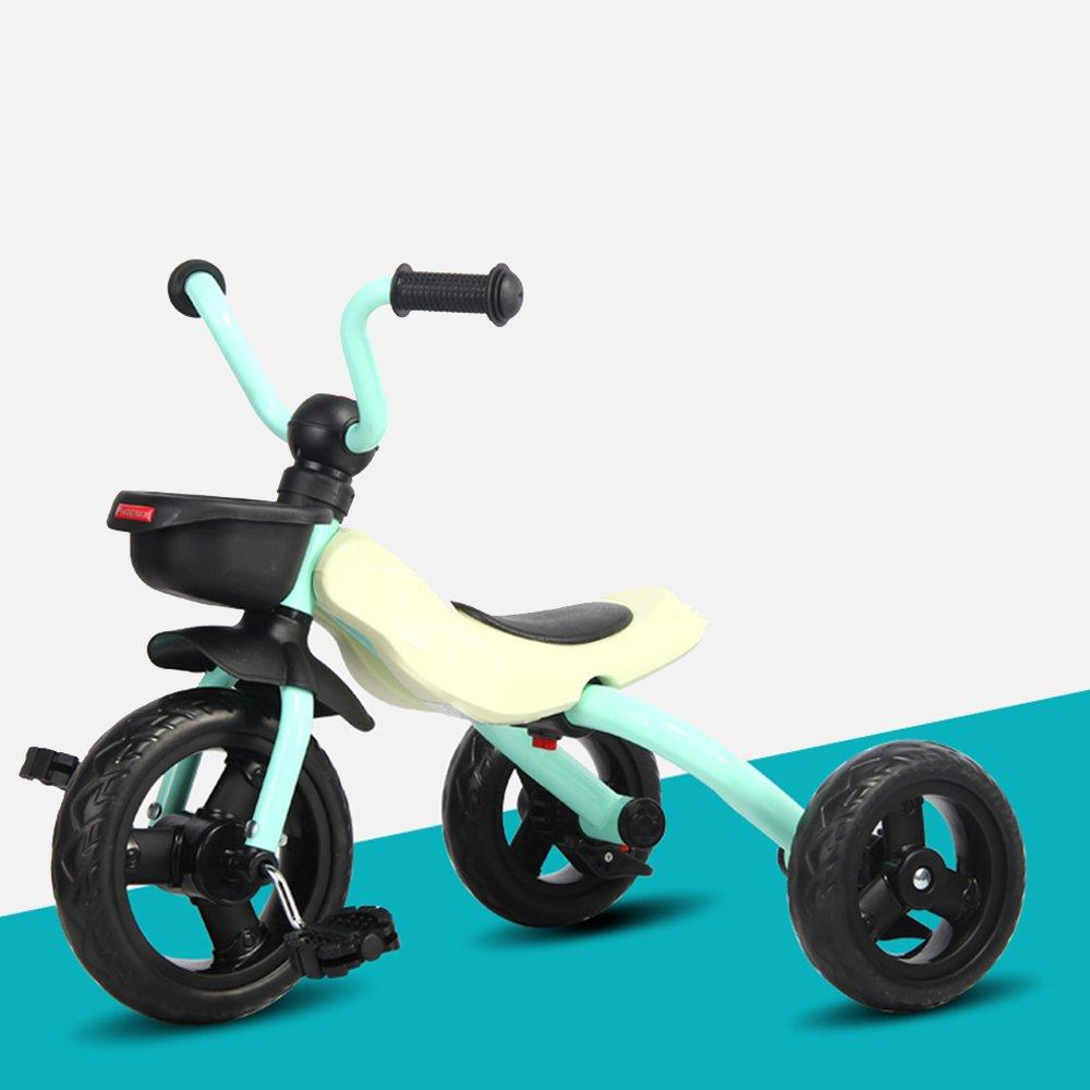YANFEI 子ども用自転車 子供の三輪車2歳まで6歳の男性と女性の赤ちゃん折り畳み式幼児自転車ポータブル自転車 子供用ギフト B07DZBZSZJ 緑 緑