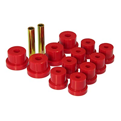 Prothane 7-1011 Red Rear Multi Leaf Spring Eye and Shackle Bushing Kit: Automotive