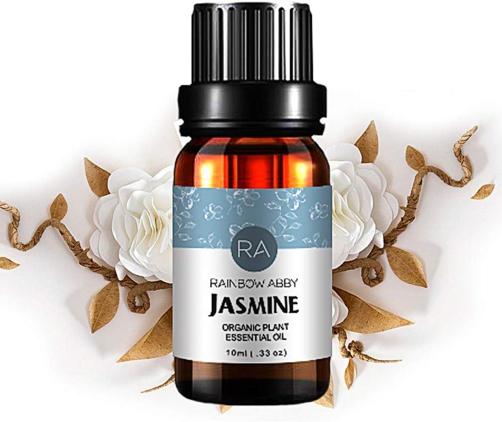 Aceite Esencial de Jazmín, Aceite de Jazmín de Aromaterapia Natural 100% Puro Para Difusor (10ML)