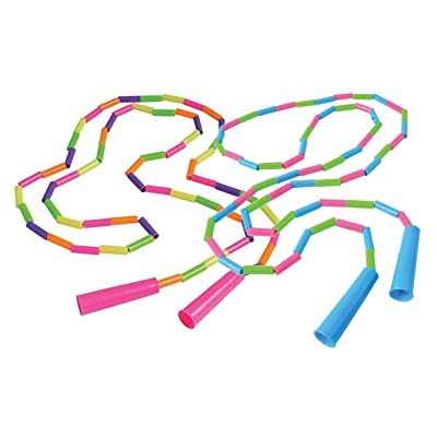 Curious Minds Busy Bags Plastic Jointed Bead Jump Rope - Classic Outside Active Toy - Tweens and Teens - Heavy Segmented Playground Skipping Rope Party Favors: Toys & Games