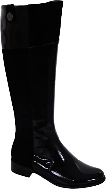 Low Heel Black Knee High Boots Shoes