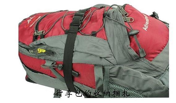 toute épreuve Baguettes en nylon pour sac à dos Ceintures Boucle de sac Realese rapide Accessoires de voyage réglables Bandoulière de rechange noir (Motif 2) x1Yu0