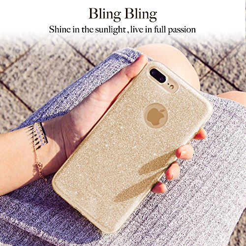 59a190b51ad iPhone 7 Plus Case, ESR Bling Glitter Sparkle Three Layer - Import It All