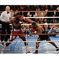 $183 » Authentic Autographed Mike Tyson 16X20 Landing Punch Photo ~ JSA W Auth *Left