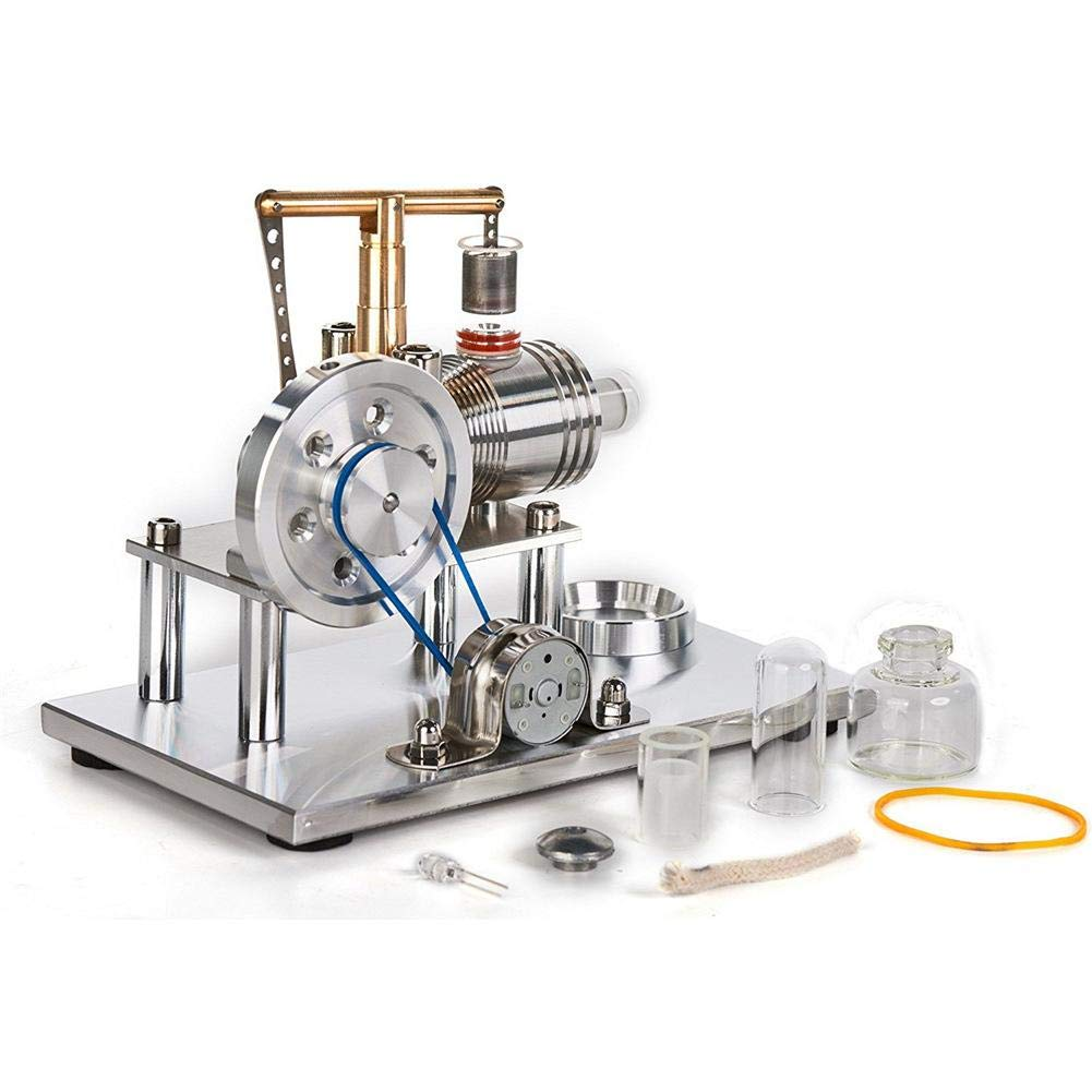 Jannyshop Education Toy Model Kit Low Temperature Stainless Steel Stirling Engine Run Off The Temperature Difference Hot Air Stirling Engine Steam Motor