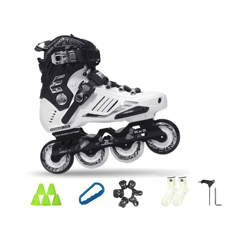 Ailj インラインスケート 大人用1列スケート 初心者ローラースケート 2色 色 : 白 サイズ さいず EU 40 4.5 3.5 UK 高品質新品 6.5 36 B07QDL1G82 23cm 25cm 安全 US 7.5 JP
