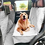 Cheap Deluxe Quilted and Padded Dog Car Back Seat Cover with Non-Slip Back Best for Car Truck and SUV – Travel With Your Pet Mess Free – Universal Fit 56″x94″, Grey