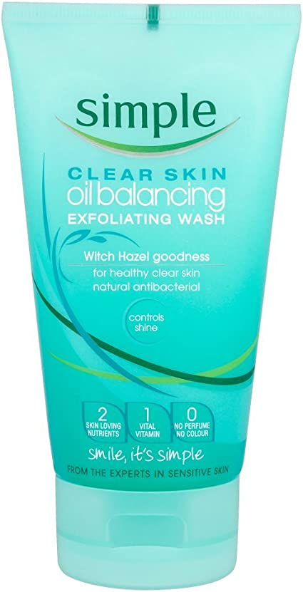 Clear Skin Oil Balancing Exfoliating Wash by Simple #7