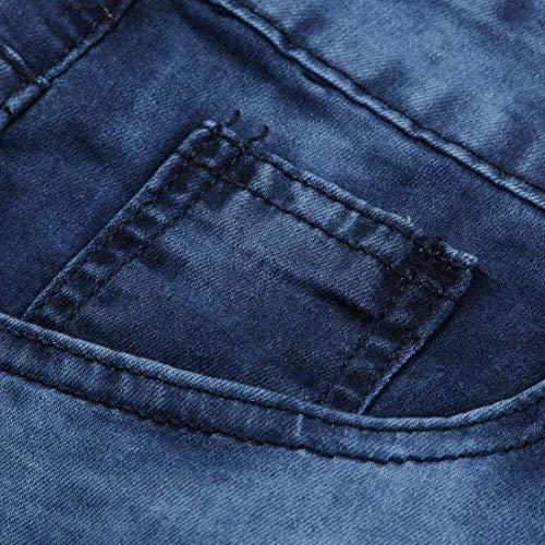 Skinny Agujeros Ajustados Vaqueros Destruidos Negros Pantalones para Chern Pantalones Pantalones Ajustados Pantalones Jeans Destruidos con Negros Veraniegos Vaqueros V Pantalones Blua Pantalones Hombres 4wvYgq0U