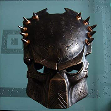 LXIANGP Máscara de Hierro Guerrero máscara cos Terminator máscara CS protección Templo Halloween Horror Muerto Camarero