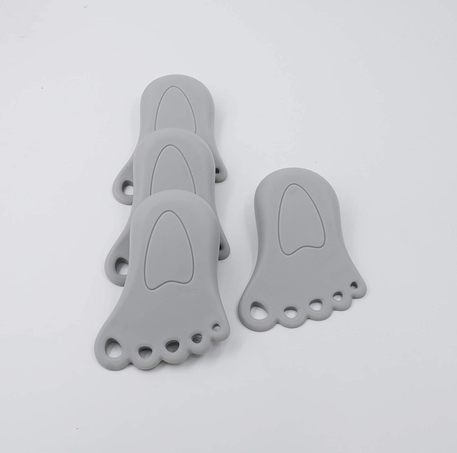 Child Safety Non-Slip Door Stoppers 4 Pack | by THUNDER SCOUT Ideal for Child Safety 100/% Guarantee Odorless and Sturdy
