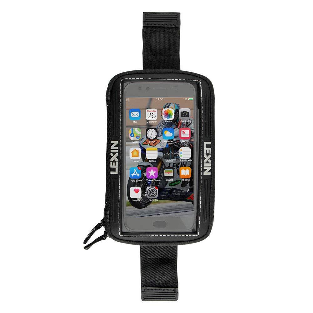 LEXIN LX-MTB06 Sacoche de R/éservoir Moto pour T/él/éphone Portable Magn/étique Grande Taille Noir jusqu/à 6,5 /Écran pour Sport Bike//Motocycle