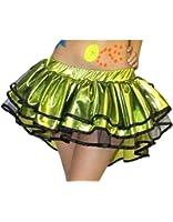 Wet Look Metallic Bustle Peacock Tutu Skirt
