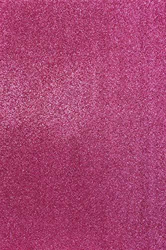 Allgala 12 Pack Glitter EVA Foam Paper 8 x 12inch Sheets-Fuchsia-CF85012
