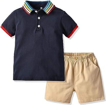 Conjunto De Dos Piezas Camiseta POLO Algodón Camisetas Para Niños ...