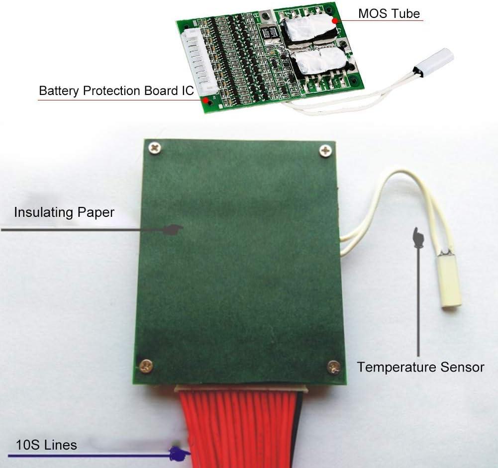Tablero de protecci/ón de pol/ímero de litio balanceado 36V 20A 10S pol/ímero de litio bater/ía de pol/ímero de litio Tablero de protecci/ón BMS