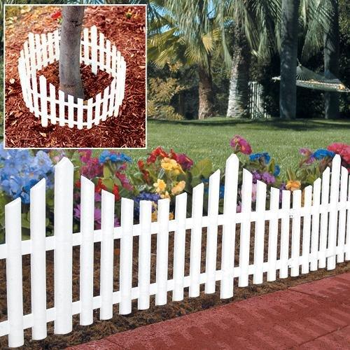 Amazon.com : Picket Fence Edging : Small Picket Fence : Patio, Lawn U0026 Garden