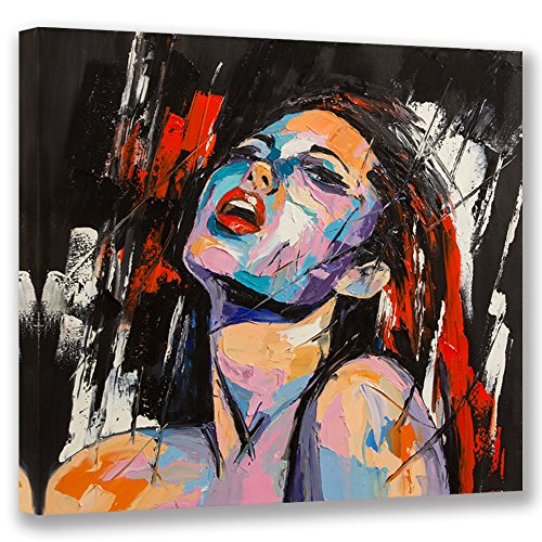 Visual Art Decor Large Abstract Red Lip Sexy Nude Woman Portrait Painting Canvas Figure Prints Art Home Wall Decoration Framed Picture Artwork Ready to Hang