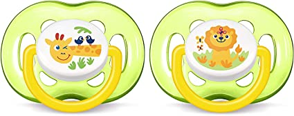 18 Months Plus, Pack of 2 Philips SCF186//25 Avent Freeflow soothers