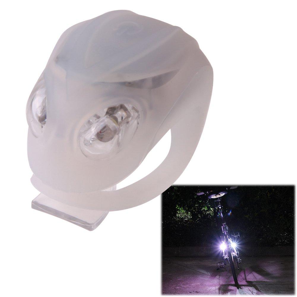 Hillrong L/ámpara de Bicicleta Alien Impermeable Bicicleta Frontal LED Seguro Advertencia Luces
