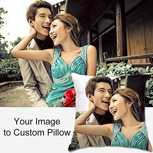 Yifely Personalized Pillow with Your Own Photo Custom Picture Pillowcase Insert Included 40x40cm Customizable -