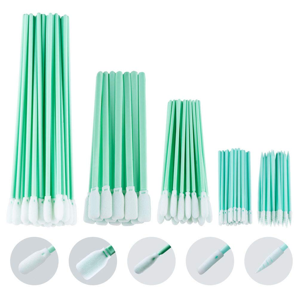 100pcs Multi-Purpose 3 Double Ended Cleanroom Lint Free Cleaning Swabs with Small Pointed Foam Tips Cleaning for Tiny Tight Space of Precision Component