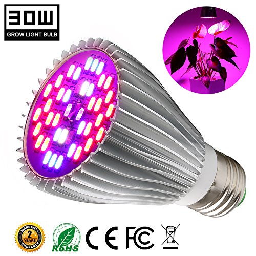 Cheap  30W Led Grow Light Bulb, Plant Lights Bulbs Full Spectrum Grow Lamp..