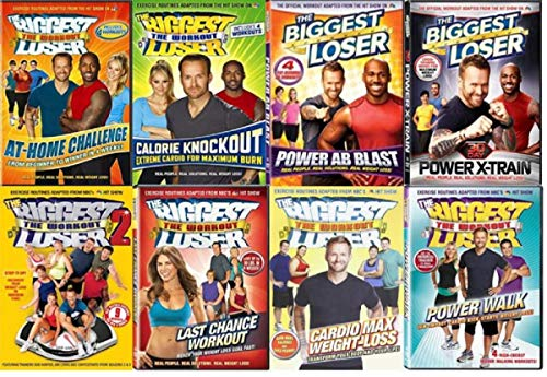 Biggest Loser Workout DVD Collection - Cardio Max Weight-Loss / Last Chance Workout / Power Walk/ 30-Day Jump Start/ At Home Challenge/ Calorie Knockout/ Power Ab Blast/ 30-Day Power X-Train/ Biggest