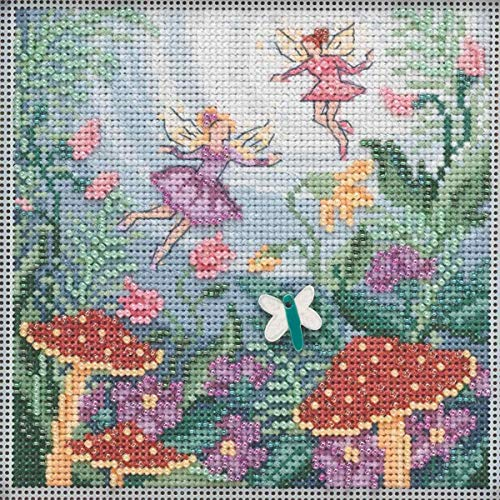 Fairy Garden Beaded Counted Cross Stitch Kit Mill Hill 2019 Buttons & Beads Autumn -